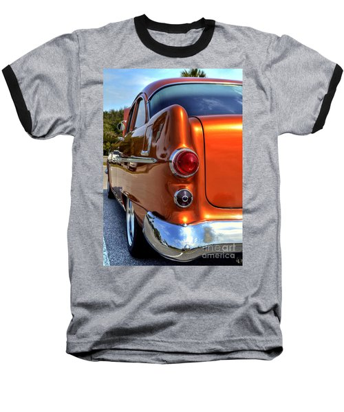 Baseball T-Shirt featuring the photograph 1955 Pontiac by Kathy Baccari