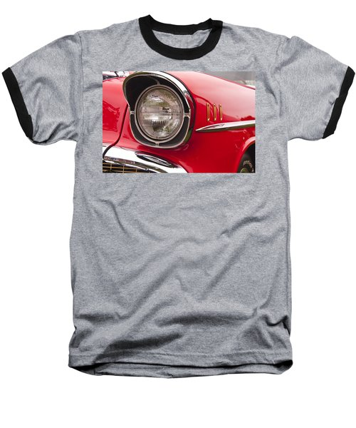 1957 Chevrolet Bel Air Headlight Baseball T-Shirt