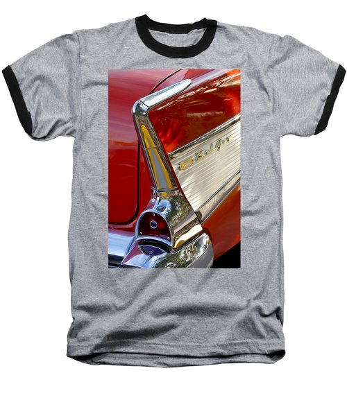 1957 Chevrolet Belair Taillight Baseball T-Shirt by Jill Reger