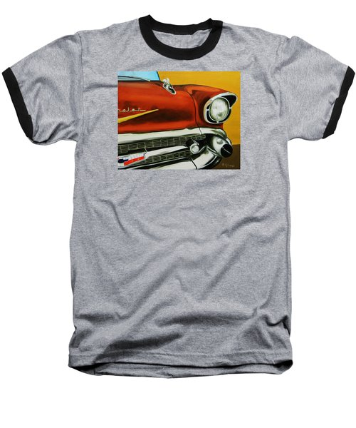 1957 Chevy - Coppertone Baseball T-Shirt