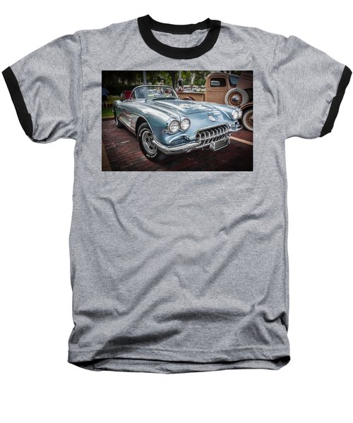 1958 Chevy Corvette Painted Baseball T-Shirt