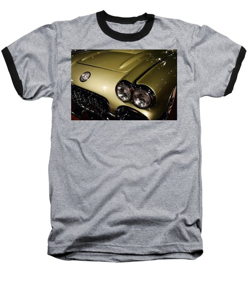1958 Fancy Free Corvette J58s Baseball T-Shirt