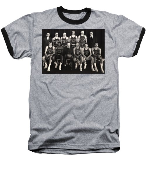 1959 University Of Michigan Basketball Team Photo Baseball T-Shirt