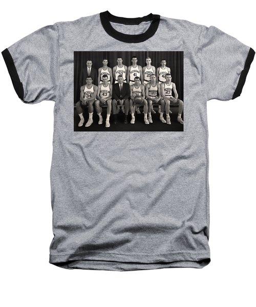 1960 University Of Michigan Basketball Team Photo Baseball T-Shirt