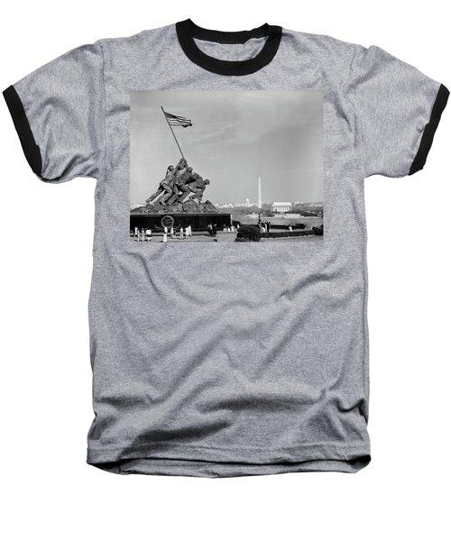 1960s Marine Corps Monument Baseball T-Shirt