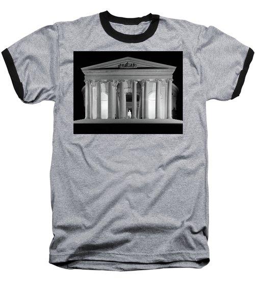 1960s Thomas Jefferson Memorial Lit Baseball T-Shirt
