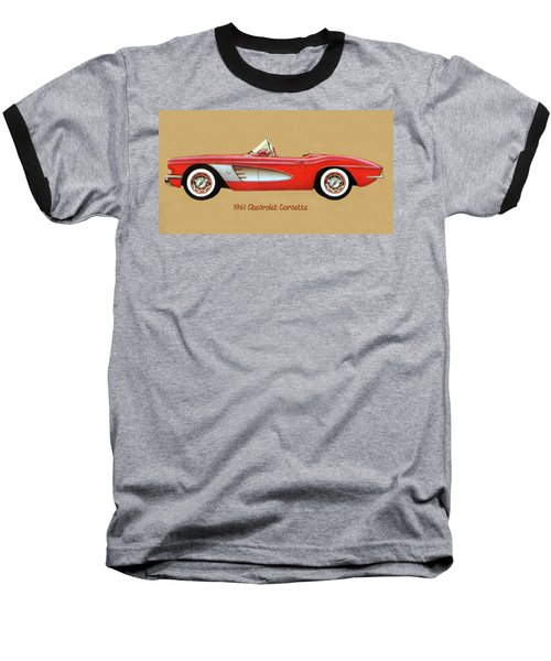 1961 Chevrolet Corvette Baseball T-Shirt