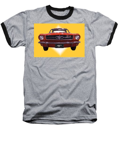 1964 Ford Mustang Baseball T-Shirt by Michael Porchik