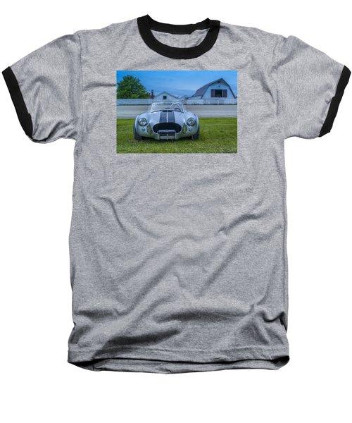 1965 Ford Shelby Cobra American Roadster Baseball T-Shirt by Ken Morris