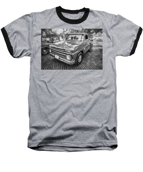 1966 Chevy C10 Pick Up Truck Painted Bw Baseball T-Shirt