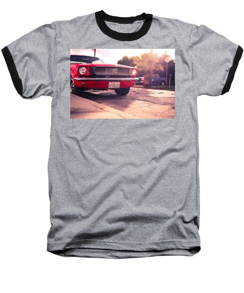 Baseball T-Shirt featuring the photograph 1966 Ford Mustang Convertible by Gianfranco Weiss