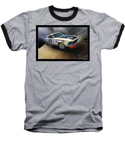 1969 Boss 302 Mustang Baseball T-Shirt