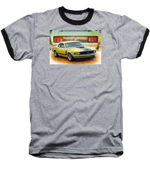 1970 Boss 302 Mustang Baseball T-Shirt
