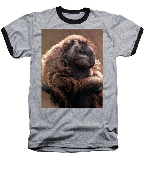 1970s Mature Adult Orangutan Pongo Baseball T-Shirt