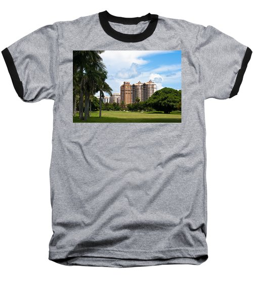 1st Hole At Granada Golf Course Baseball T-Shirt