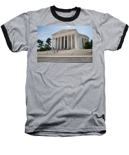 Thomas Jefferson Memorial Baseball T-Shirt by Carol Ailles