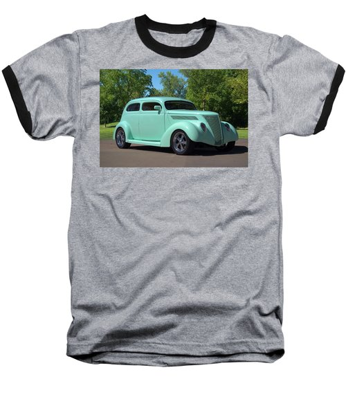 1937 Ford Sedan Hot Rod Baseball T-Shirt