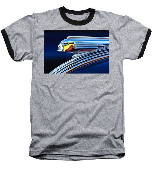 1939 Pontiac Silver Streak Chief Hood Ornament Baseball T-Shirt by Jill Reger