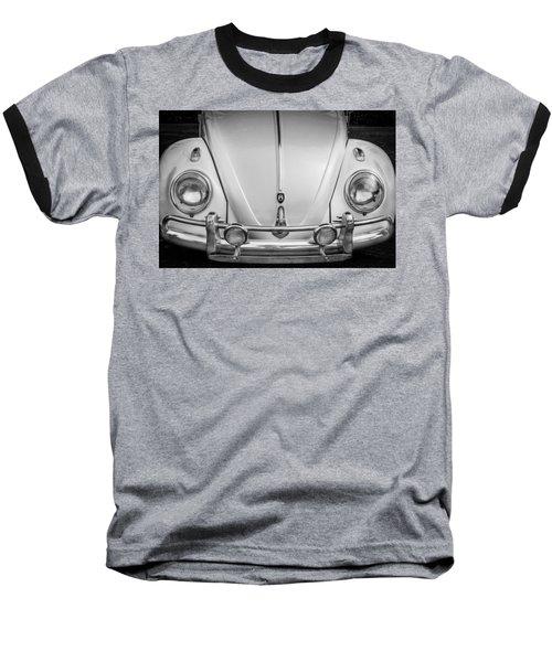 1960 Volkswagen Beetle Vw Bug   Bw Baseball T-Shirt