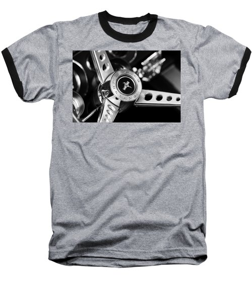 1969 Ford Mustang Mach 1 Steering Wheel Baseball T-Shirt by Jill Reger