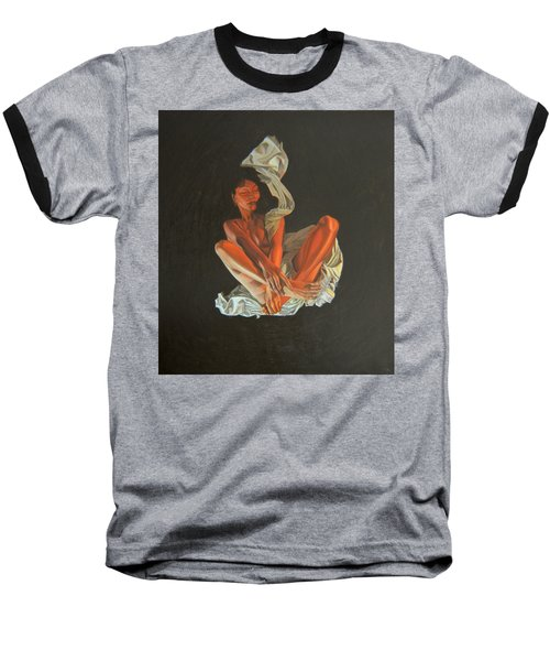 Baseball T-Shirt featuring the painting 2 30 Am by Thu Nguyen