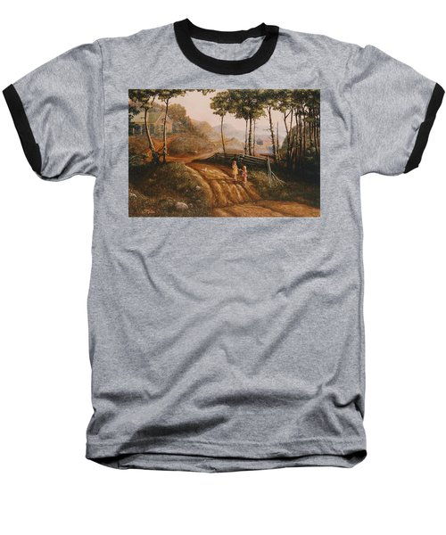 A Country Lane Baseball T-Shirt
