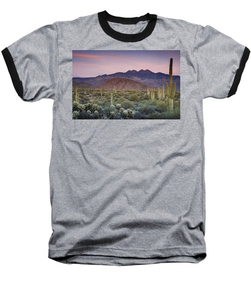A Desert Sunset  Baseball T-Shirt