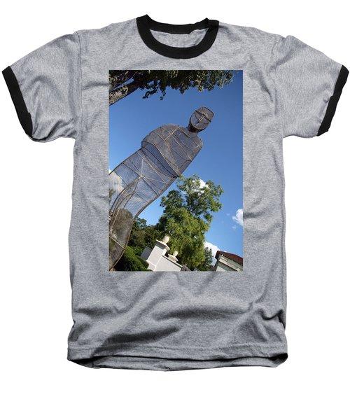 Baseball T-Shirt featuring the photograph Minujin's A Man Of Mesh by Cora Wandel