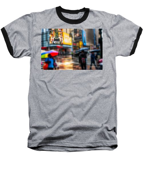 A Rainy Day In New York Baseball T-Shirt