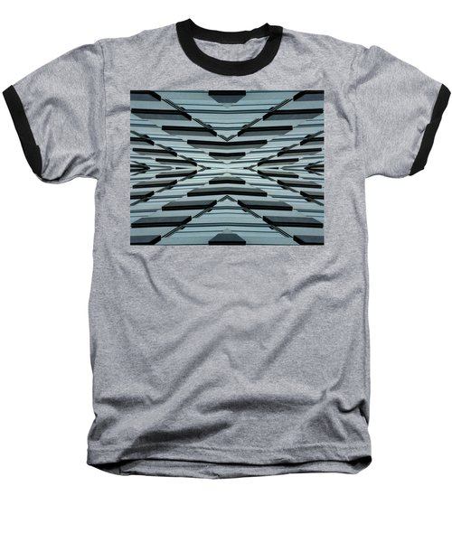 Abstract Buildings 3 Baseball T-Shirt