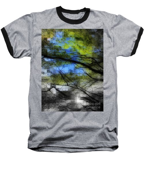 Abstract Forest Baseball T-Shirt by France Laliberte