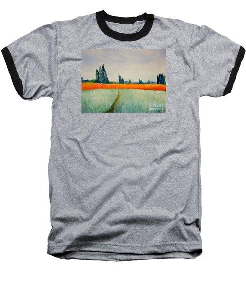 After Monet Baseball T-Shirt by Bill OConnor