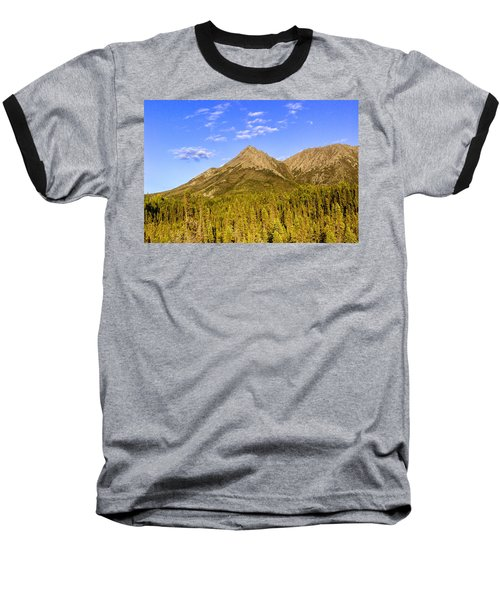 Alaska Mountains Baseball T-Shirt