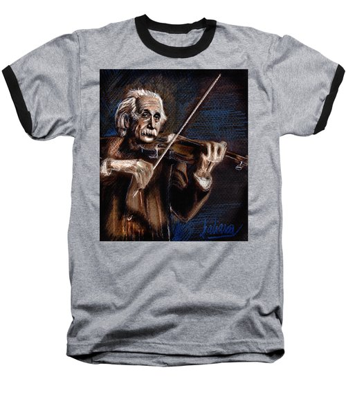 Albert Einstein And Violin Baseball T-Shirt