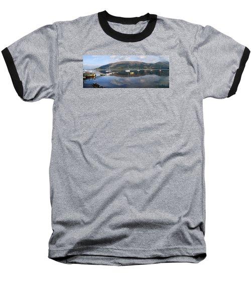 Along Loch Leven 3 Baseball T-Shirt by Wendy Wilton