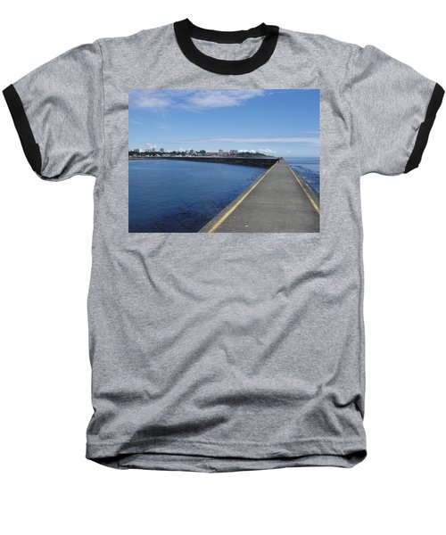 Baseball T-Shirt featuring the photograph Along The Breakwater by Marilyn Wilson