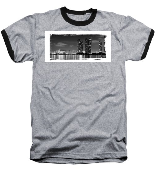 Baseball T-Shirt featuring the photograph American Airlines Arena And Condominiums by Carsten Reisinger