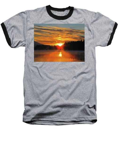 Baseball T-Shirt featuring the photograph American Lake Sunrise by Tikvah's Hope