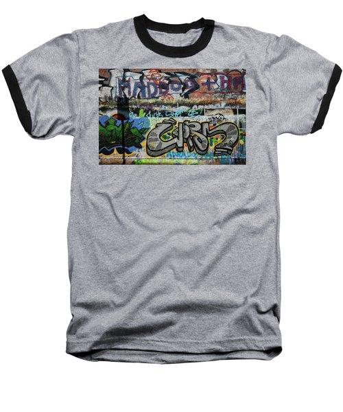 Artistic Graffiti On The U2 Wall Baseball T-Shirt