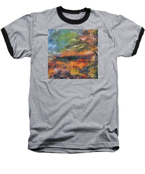 Baseball T-Shirt featuring the painting At Dawn by Dragica  Micki Fortuna