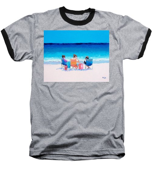 Beach Painting 'girl Friends' By Jan Matson Baseball T-Shirt