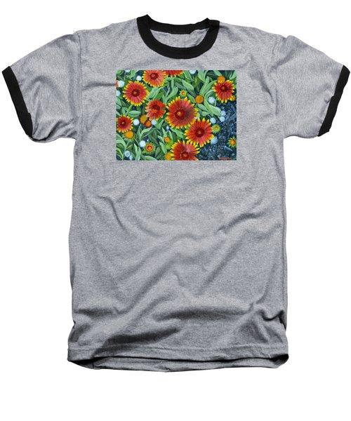 Blanket Flowers Baseball T-Shirt