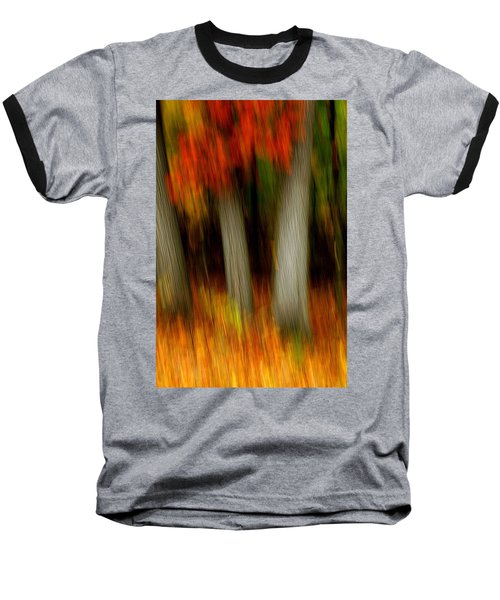 Blazing In The Woods Baseball T-Shirt