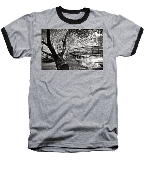 Bridge At Ellison Park Baseball T-Shirt by Sara Frank