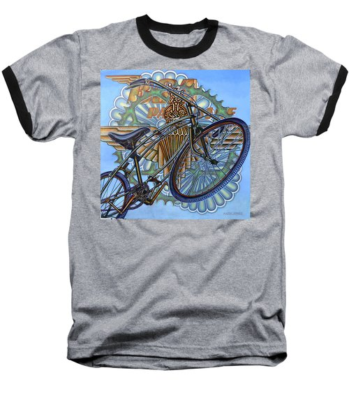 Bsa Parabike Baseball T-Shirt by Mark Jones