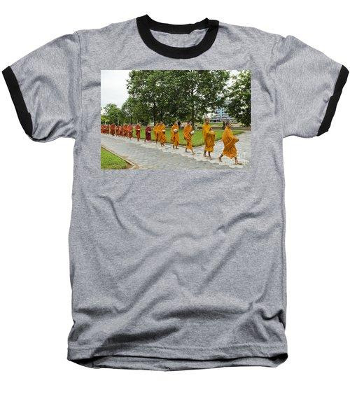 Buddhist Monks In Battambang Cambodia Baseball T-Shirt
