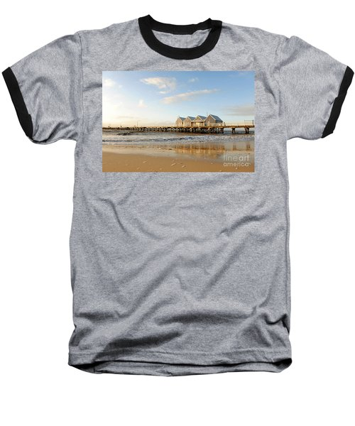 Busselton Jetty Baseball T-Shirt by Yew Kwang