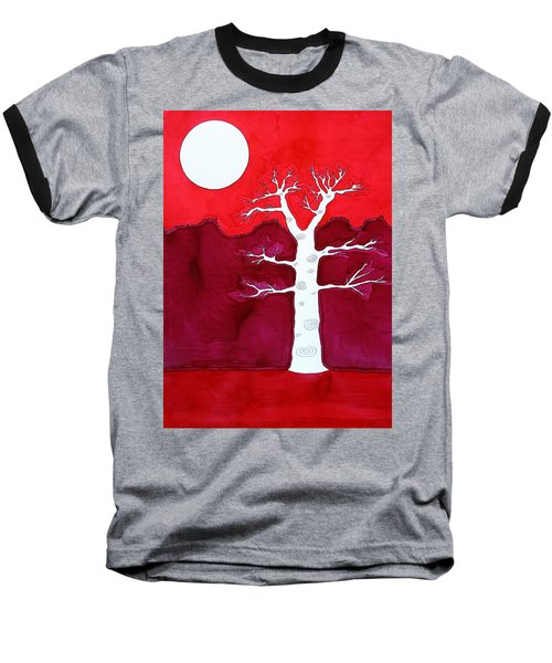 Canyon Tree Original Painting Baseball T-Shirt by Sol Luckman