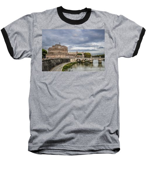 Castle St Angelo In Rome Italy Baseball T-Shirt