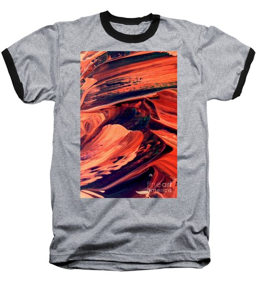 Baseball T-Shirt featuring the painting Catalyst by Jacqueline McReynolds